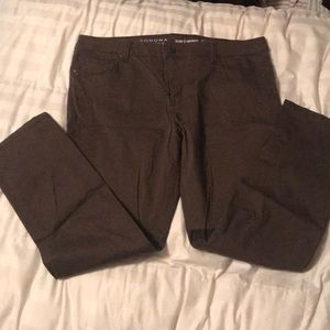 Brown Sonoma slim strait pants 16 short